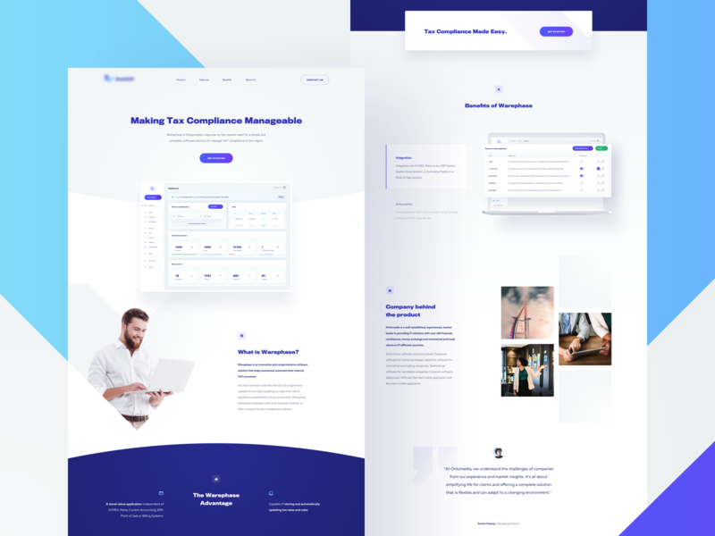 1V — Landing Page 🧮 mockup grid application app interface typography simple minimal webdesign website layout product purple blue homepage clean ux ui web landing page