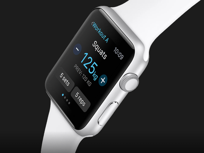 Strength tracking app for Apple Watch 💪 fitness gym watch strength workout