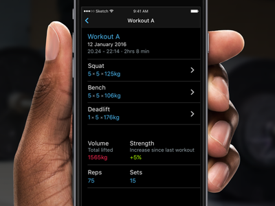Strength tracking app - Completed workout 💪 iphone ios tracking fitness strength workout