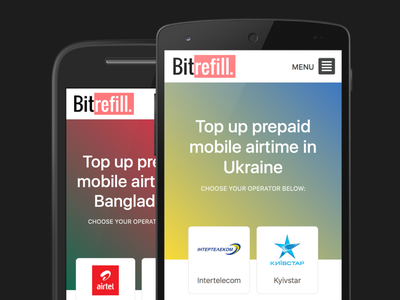 Bitrefill country pages topup bitcoin landing page mobile bitrefill