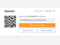 Bitcoin payment widget