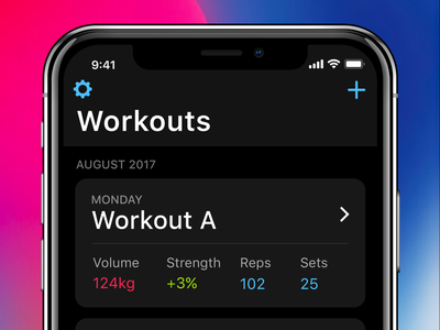 Strength tracking app overview iphone x training workout tracking ios strength