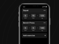 Strength app: Training