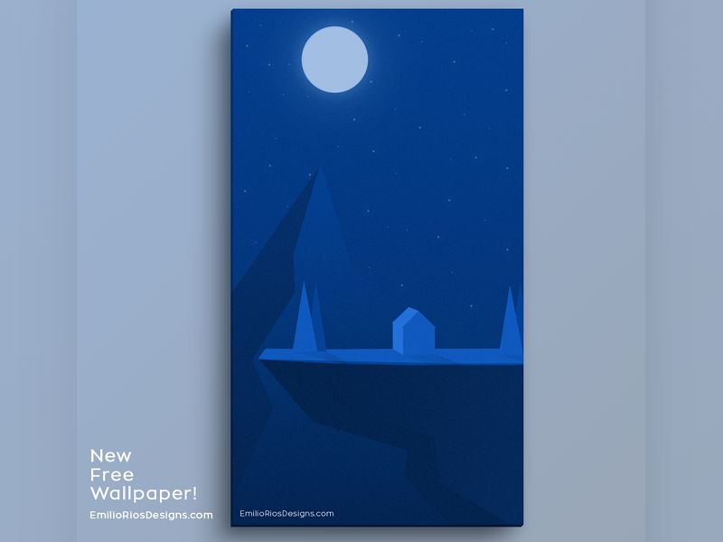New FREE Wallpaper Download! download wallpaper freebie free cabin nature mountains illustrator illustration cliff emilioriosdesigns