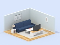 Living Room Update Render