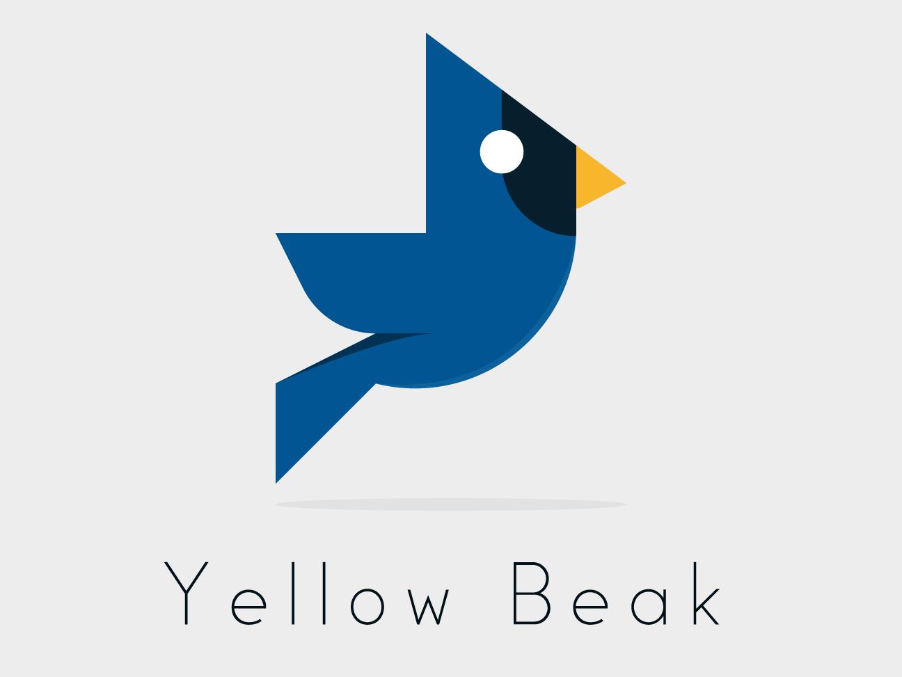 Yellow Beak Logo Design logo designer logo design branding illustrator design logo emilioriosdesigns