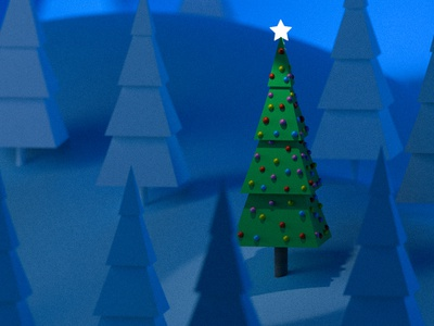 Christmas Tree time! 3d lowpoly low poly tree christmas graphicdesigner 3d render 3d blender emilioriosdesigns