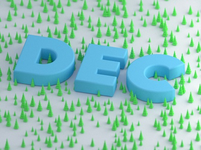 December Trees trees 3d low poly low poly christmas 3d render 3d blender emilioriosdesigns