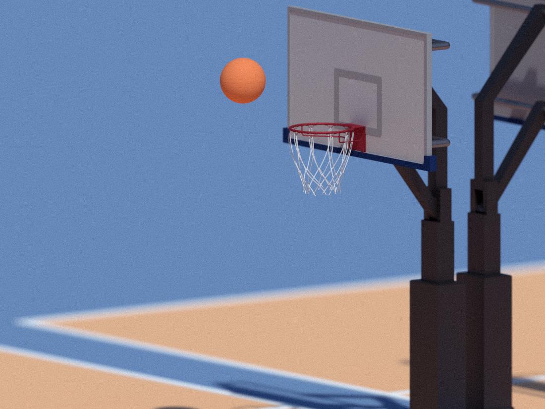 Bball Low-poly bball basketball 3d render 3d blender emilioriosdesigns