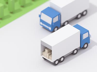 Truck graphicdesigner 3d render 3d blender emilioriosdesigns