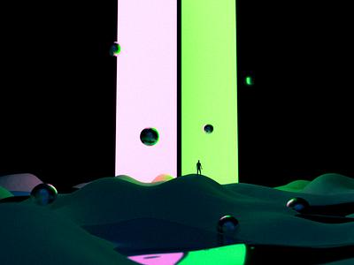 Two Portals surreal 3d graphicdesigner 3d render 3d blender emilioriosdesigns