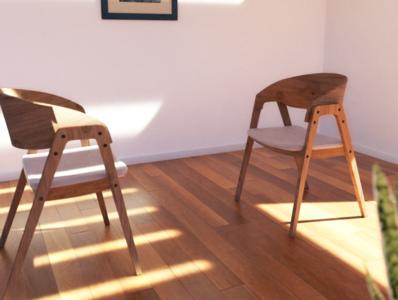 Facing Chairs photography photorealistic photoshop photorealism 3d blender emilioriosdesigns