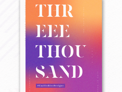 Thank you for 3K on IG poster art visual designer type typography instagram poster design poster emilioriosdesigns