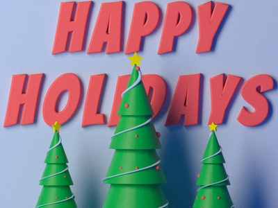 Happy Holidays! christmas tree lowpolyart lowpoly christmas graphicdesigner 3d render 3d blender emilioriosdesigns