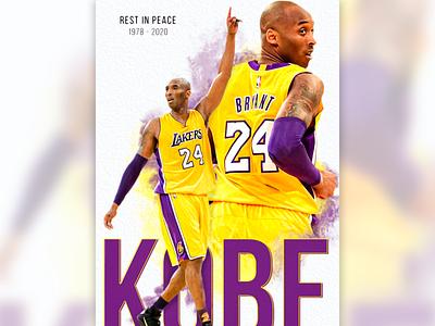 Rest In Peace Kobe photoshop nba lakers kobeart rip kobe kobe emilioriosdesigns