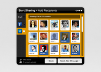 Start Sharing > Add Recipients