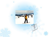 Snowboarding vignette