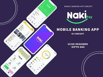Taka Naki Mobile Banking App UI/UX Concept mobile banking mobile ui animation banking app uidesign ui design ui  ux clean design daily minimal web app icon ui ux graphic design illustration dailylogochallenge branding