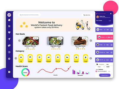 Food dashboard UI Design icon uidesign ui design app design dailyui dashboard design dashboard app dashboard ui app ui web app concept ui ux graphic design branding design dailylogochallenge daily