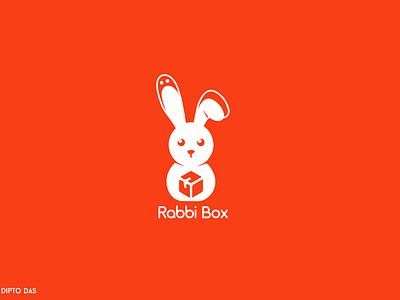 Rabbi Box Modern Delivery Logo clean gift delivery logo delivery mark logodesign logos logo design modern design modern logo minimal design graphic design logo icon dailylogochallenge logotype concept daily branding