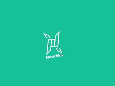 MusicMax Modern Music Logo m letter logo logo designer logo mark logo type logo design minimalist logo minimalist minimal music modern dailylogochallenge logotype illustrator icon logo graphic design concept design daily branding