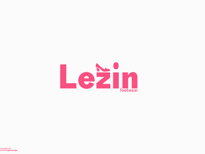 Lezin Footwear Modern Logo Branding modern logo logo mark shopping shoes minimal logotype logodesign brand identity footwear logo vector modern logo design dailylogochallenge graphic design daily concept design branding