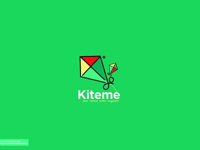 Kiteme Brand Logo design (event organizer logo) visual identity brand identity logodesign minimalist minimal event event branding kite modern logo design illustrator icon logotype logo graphic design concept dailylogochallenge daily design branding