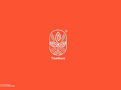 Treewave branding design branding design brand design minimalistic tree logo logomark brand identity minimalism minimal minimalist logo minimalist modern logo modern logotype icon graphic design logo design daily concept design branding