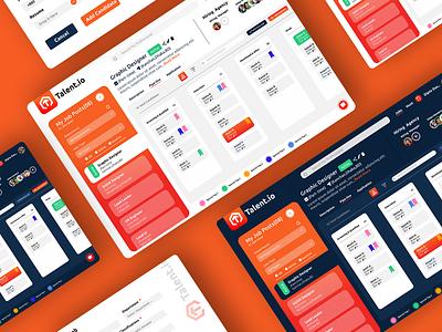 Talent.io ( Recruit Platform Web App) Concept UI talent web application ux graphic design concept design web application design dashboard dailyui web ui uidesign uiux ui daily web app design web app web web design