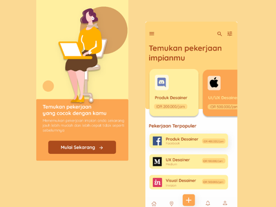 Job Finder App #1 job board ui  ux pencarikerja job application mobile ui mobile app design ui uidesigner mobileui jobfinderapp