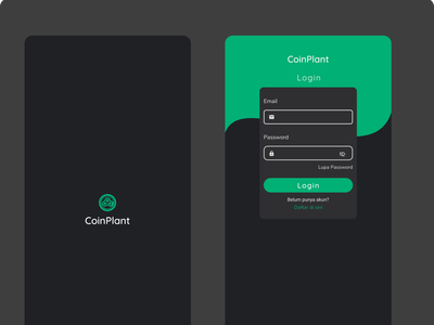 Login Cointplant login screen login form login page crypto app dark mode dark ui user experience user interface user interface design bitcoin exchange bitcoin wallet bitcoins cryptocurrency crypto wallet ui mobile app design mobile ui