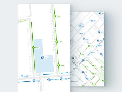 Parking Map parking ticket parking map screenshot map illustrations spotangels parking