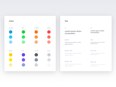 Color and text - Spotangels Design System ui style ui guide ui elements style guide design system colors palette stats pos guidelines guide colors