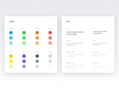 Color and text - Spotangels Design System ui style ui guide ui elements style guide design system colors palette stats pos guidelines guide colors