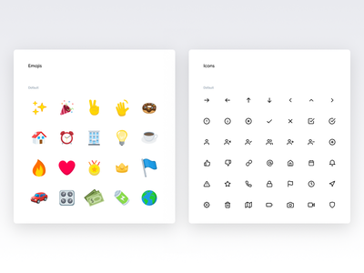 Emojis and icons Color and text - Spotangels Design System ui style ui guide ui elements style guide design system guidelines guide icons emoji emojis