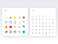 Emojis and icons Color and text - Spotangels Design System