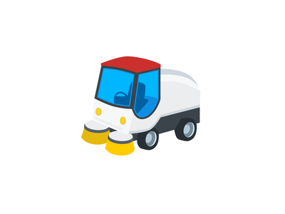 Street Sweeper Emoji truck illustration street sweeping street cleaning car street sweeper spotangels florent lenormand parking