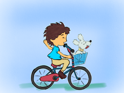 Bicycle Ride activities outdoors outdoor children play playful bicycle childrens illustration illustration illustrations illustrator doodle