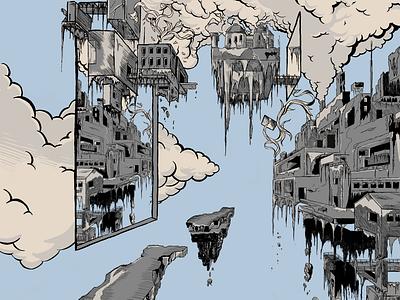 Thalamus art graffiti digital fiction landscape atmospheric graphic illustration artwork
