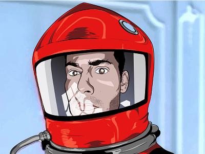 Space Odyssey atmospheric graphic artwork fiction kubrick design illustration