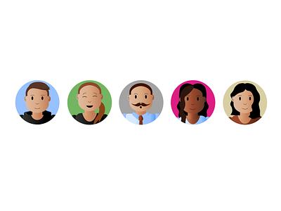 User Profiles users icons ui design artwork graphic profiles illustration