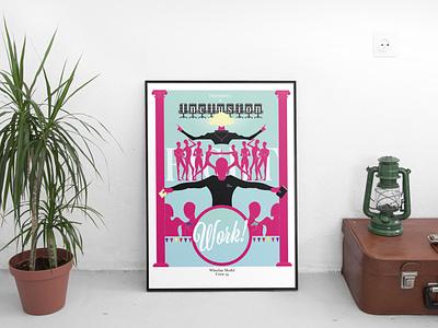 Wheelan Poster teamwork vector art design poster design artwork illustration