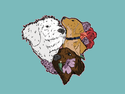 Doggies With Love dogs art logo doggies design graphic artwork illustration