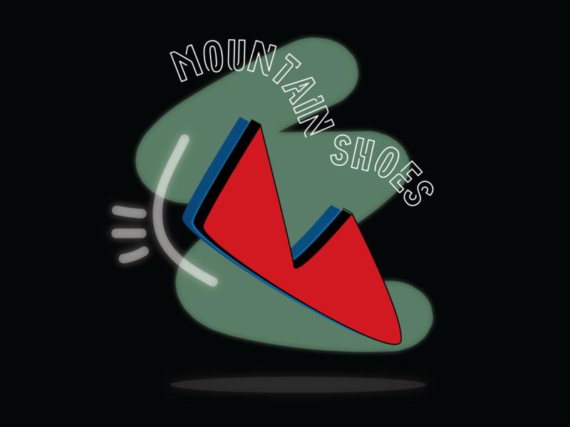 Mountain Shoes branding icon design