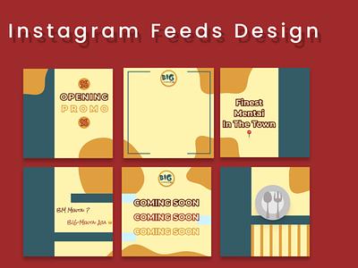 Instagram Feeds Design (Big Mentai) branding logo graphic design
