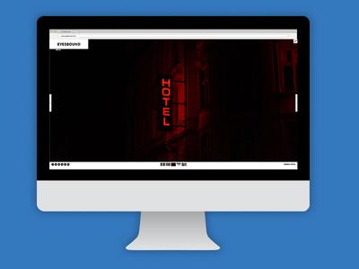 Eyebound portfolio page photography corporate design webdesign