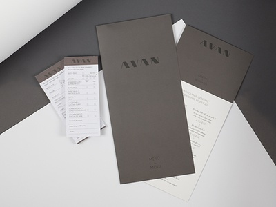 AVAN Restaurant print webdesign branding