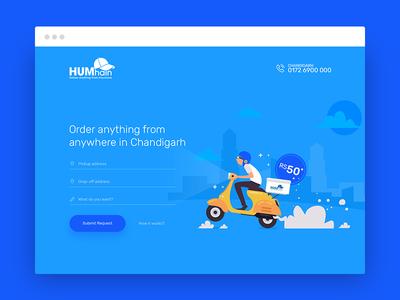 HumHain - Landing Page Design