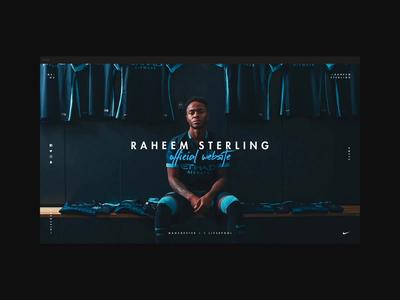 Raheem Sterling - One-Page Website