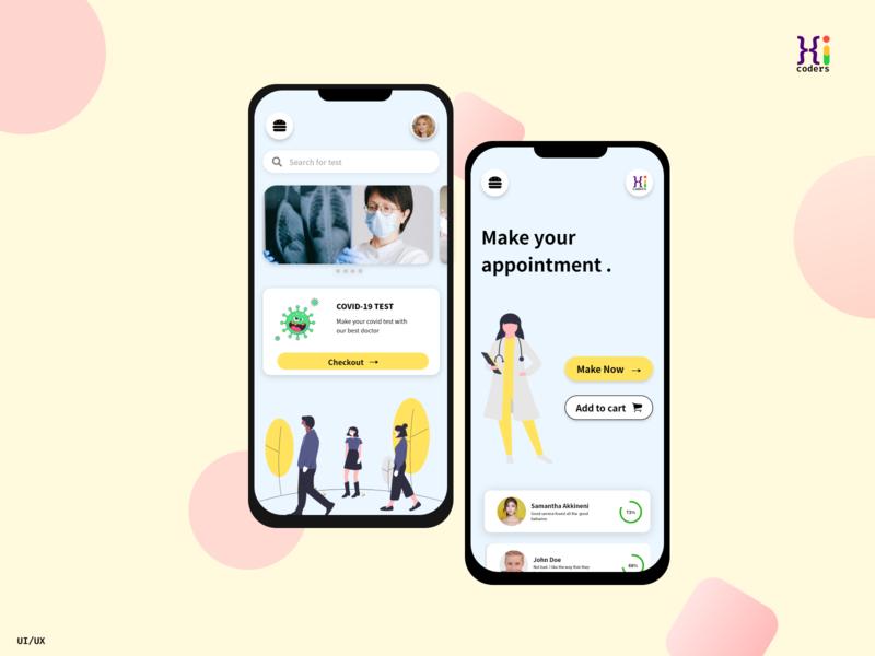 Appointment app mock-up typography app ux ui design illustration